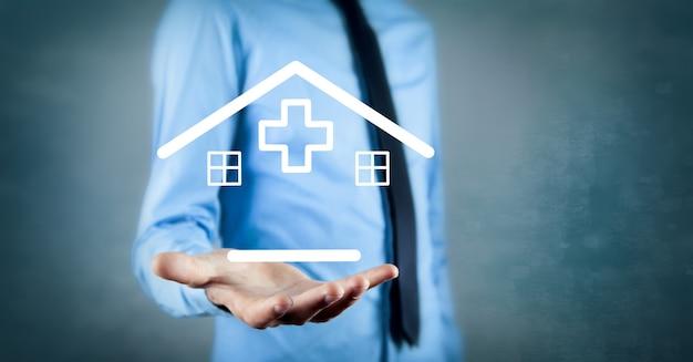 Familie ziektekostenverzekering concept