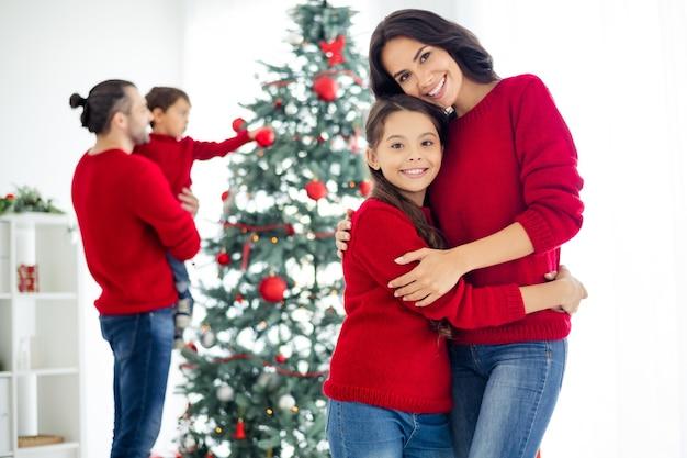 Familieportret op eerste kerstdag