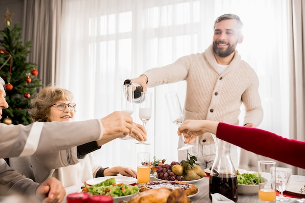 Familiereünie op kerstmis