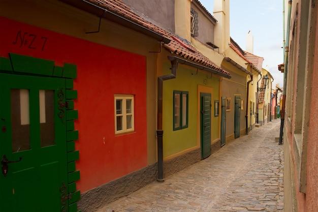 Famouse zlata ulicka - gouden straat, praag, tsjechië