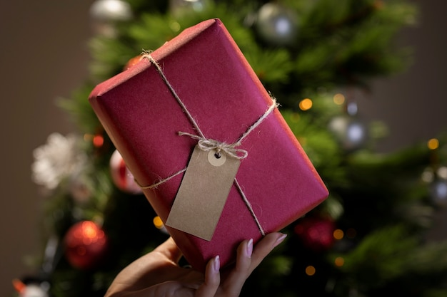 Fancy kerstcadeau verpakking thuis