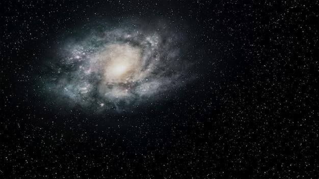 Fantasie universum ruimte achtergrond, volumetrische verlichting. 3d render