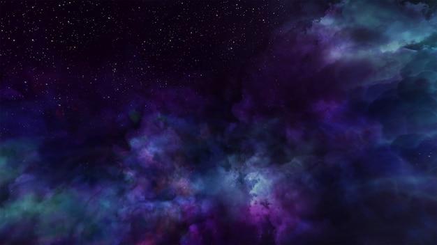 Fantasie universum ruimte achtergrond volumetrische verlichting