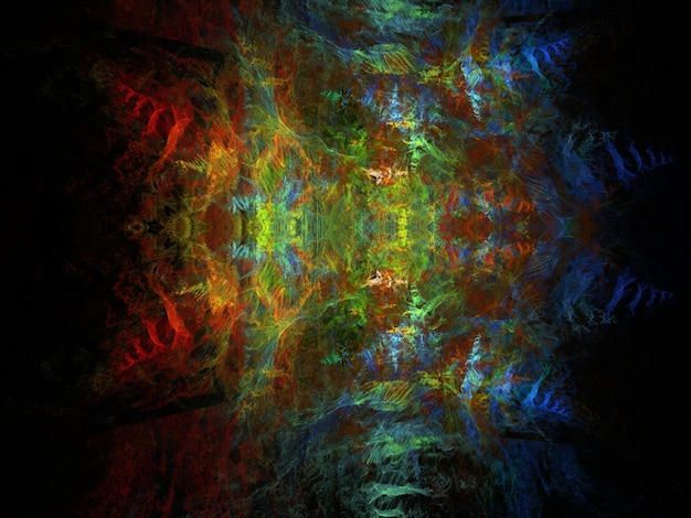 Fantasierijke fractal achtergrond