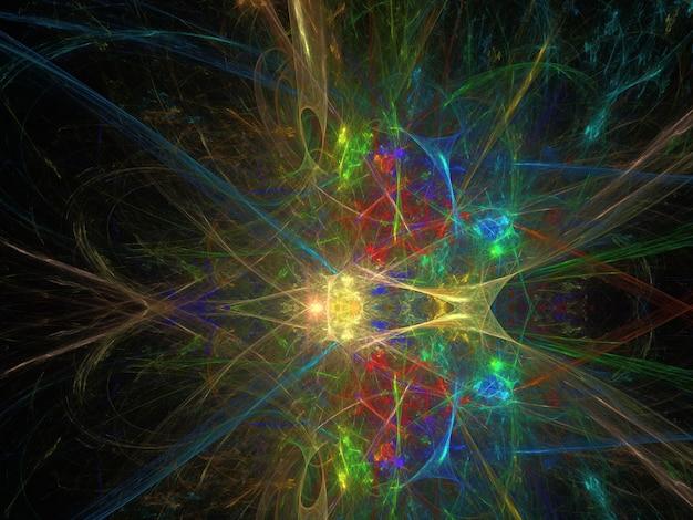 Fantasierijke fractal achtergrondafbeelding