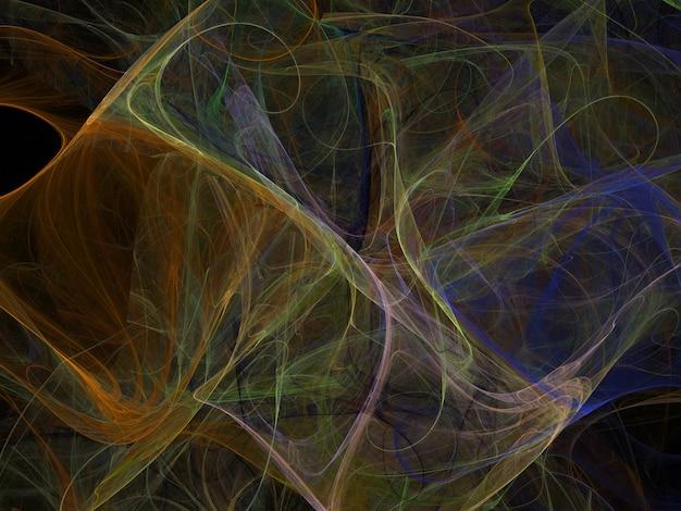 Fantasierijke weelderige fractal textuur abstracte achtergrond