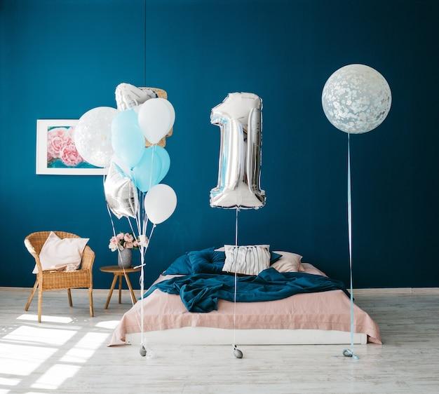 Fantastische inrichting voor de verjaardag van een klein kind