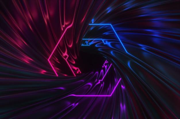 Fantastische neonlichtenachtergrond