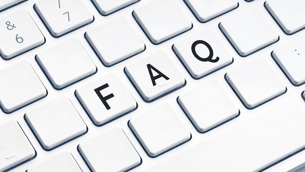 Faq of veelgestelde vragen woord op modern computertoetsenbord