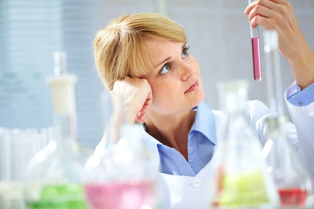 Farmaceutische biohazard onderzoek-test wetenschap