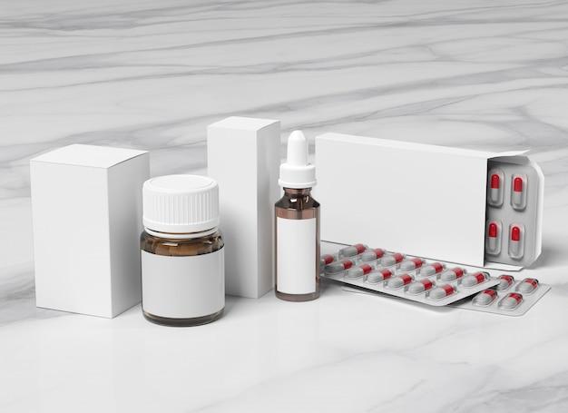 Farmaceutische verpakking - 3d-rendering