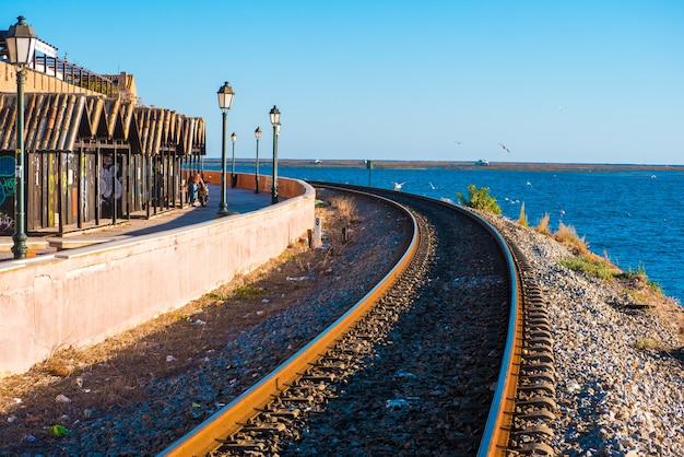 Faro, portugal spoorweg van faro.