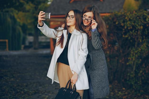 Fashion laat gezicht paar europese