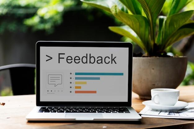 Feedback commentaar enquête ondersteuning reactiebalk woord