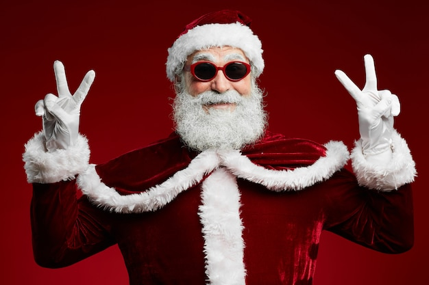 Feest santa op rood
