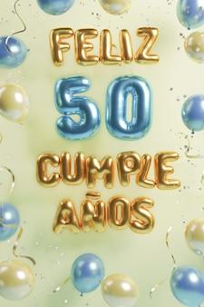 Feestelijk 50ste verjaardagsassortiment met ballonnen