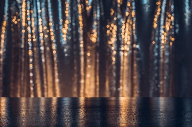 Feestelijk en stralend podium als productvertoning. textuurachtergrond met exemplaarruimte