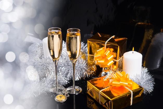 Feestelijk glinsterende kerststilleven