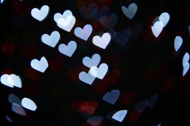 Feestelijke achtergrond van lichten in hartvorm