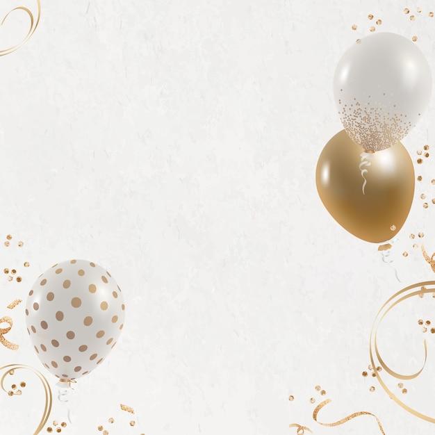 Feestelijke ballonnen grens witte achtergrond