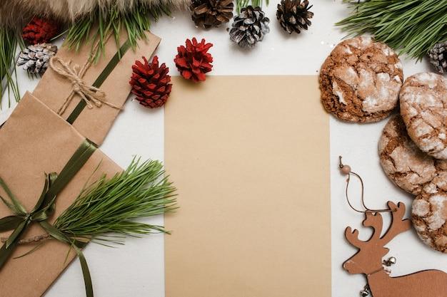 Feestelijke cadeaus voor kerstmis en nieuwjaar.