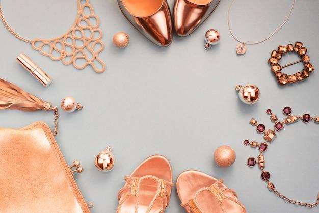 Feestelijke compositie, set accessoires sieraden geschenken