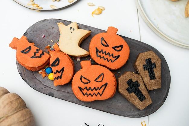 Feestelijke en leuke halloween-koekjes
