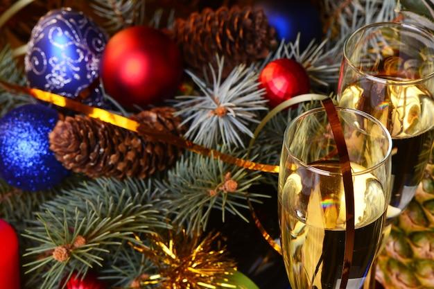 Feestelijke instelling voor kerstmis en nieuwjaar