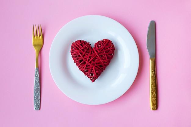 Feestelijke tabel voor valentijnsdag.