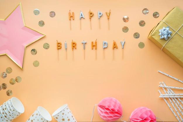 Feestviering, gelukkige verjaardag wenskaart