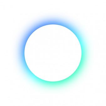 Felgekleurd patroon rond gloeiende verschillende kleuren van de neonknopen, de ruimte voor de tekst.