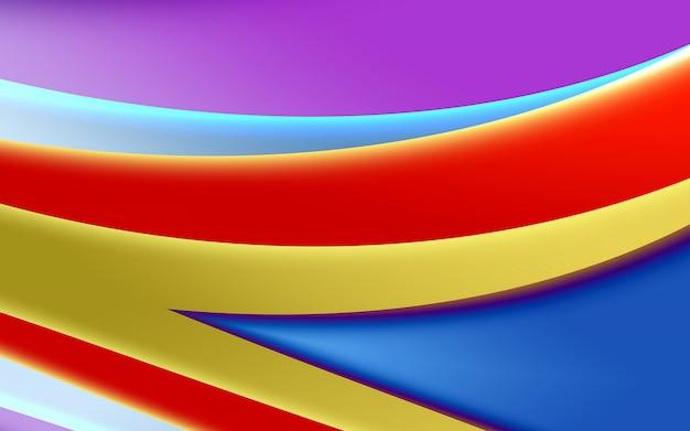 Felgekleurde abstracte achtergrond, vloeiende vormen en geometrie