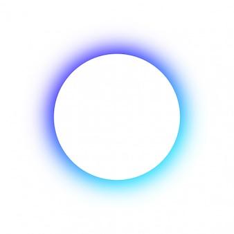 Felgekleurde ronde gloeiende kleuren