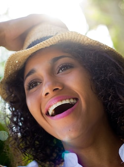 Felicidad persona gente femenino parque