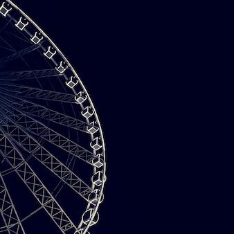 Ferris Wheel Night Amusement Attractie