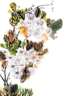 Festival achtergrond bloesem traditionele plantkunde wit