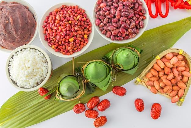 Festival wit kader kantonesische nationaliteit snacks