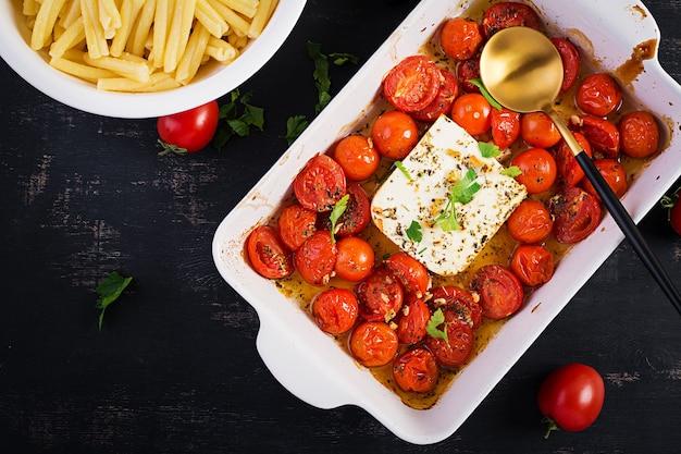 Fetapasta. trending viraal recept voor feta-bakpasta