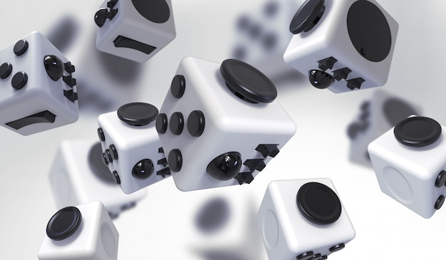 Fidget cube eenvoudige stressverlichter, fingers toy