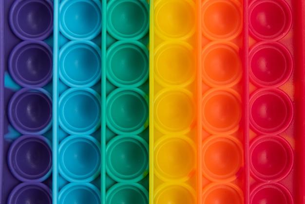 Fidget pop it toy regenboogkleur - antistress, leuk en leerzaam