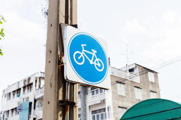 Fietspad en fietsteken