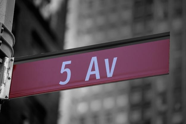 Fift avenue teken 5 e av new york mahnattan