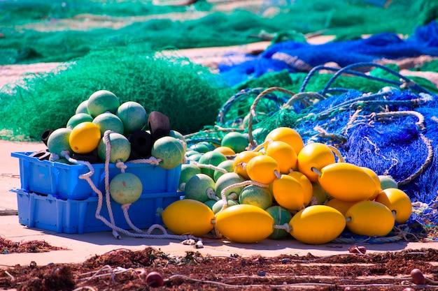 Fihing-uitrusting in formentera mediterrane eilanden