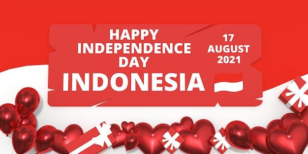 Fijne onafhankelijkheidsdag indonesië