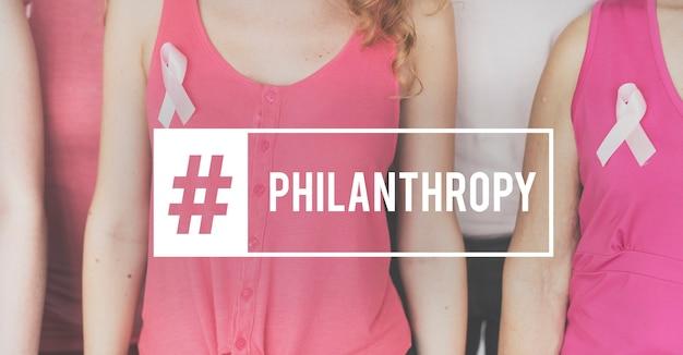 Filantropie liefdadigheid vrijwilligersondersteuning