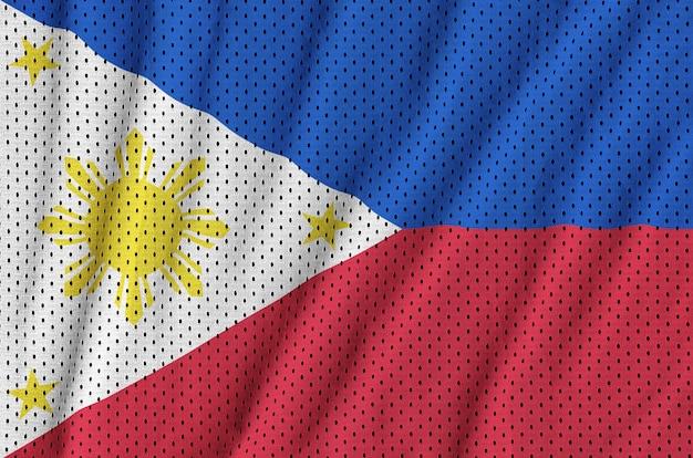 Filipijnse vlag gedrukt op een polyester nylon sportkleding mesh stof