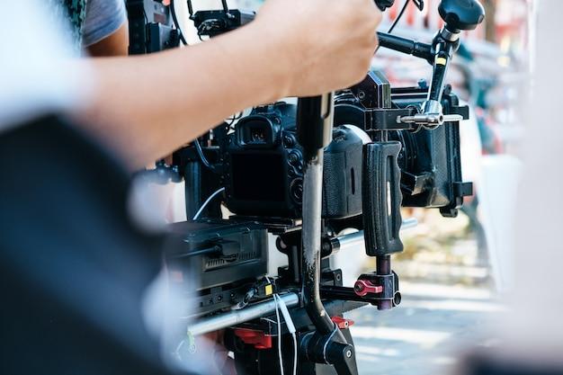 Film crew achtergrond