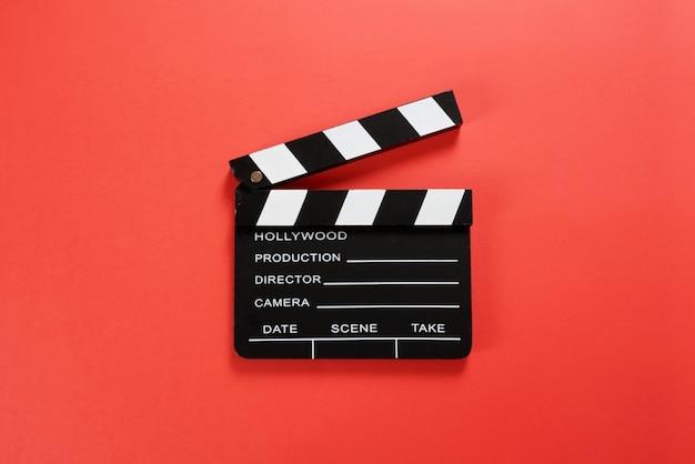 Film klepel bord met kopie ruimte.