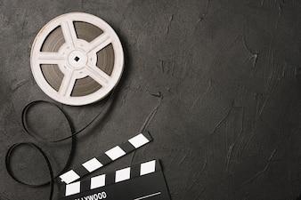 Film spoel en clapperboard