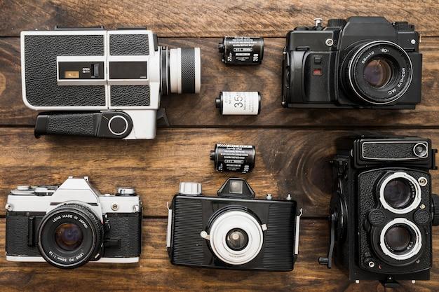 Filmcassettes tussen camera's